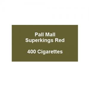 Pall Mall Superkings Red - 20 Packs of 20 Cigarettes (400)
