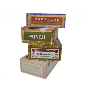 Empty Wooden Cigar Boxes (Paper Coated) - Large Size Version 2 - LUCKY DIP
