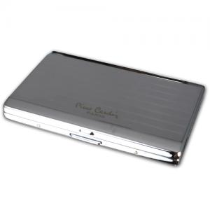 Pierre Cardin Small Cigarette Case - Chrome Lines