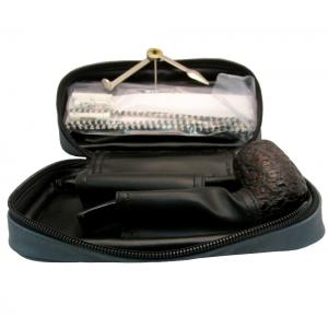 Black Friday Pipe Pouch Gift Set Blue - Bent Pipe