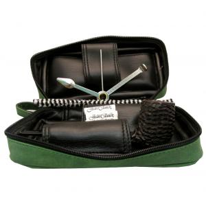 Black Friday Pipe Pouch Gift Set Green - Straight Pipe