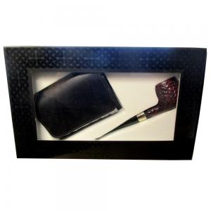 Peterson Donegal Rocky - 087 and Tobacco Pouch Gift Set