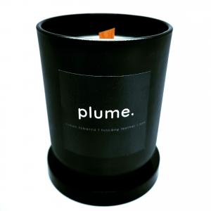 Plume Natural Hand Poured Candle -  Sweet Tobacco/ leather and Oak