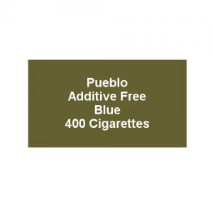 Pueblo Additive free Cigarettes - Blue - 20 x Packs of 20 (400)