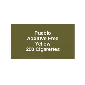 Pueblo Additive free Cigarettes - Yellow - 10 x Packs of 20 (200)