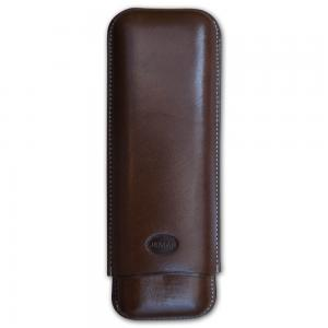 Jemar Leather Cigar Case - 2 Finger - 70 RG - Brown
