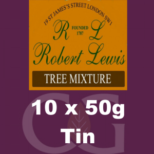 Robert Lewis Tree Mixture Pipe Tobacco 10x50g Tins