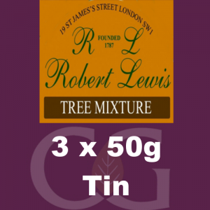 Robert Lewis Tree Mixture Pipe Tobacco 3x50g Tins