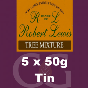 Robert Lewis Tree Mixture Pipe Tobacco 5x50g Tins