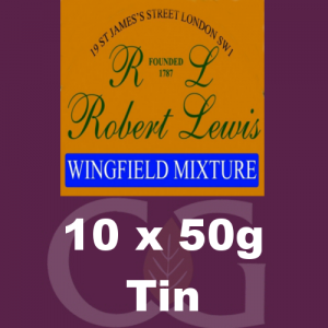 Robert Lewis Wingfield Mixture Pipe Tobacco 10x50g Tins