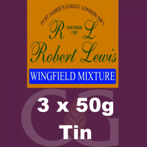 Robert Lewis Wingfield Mixture Pipe Tobacco 3x50g Tins