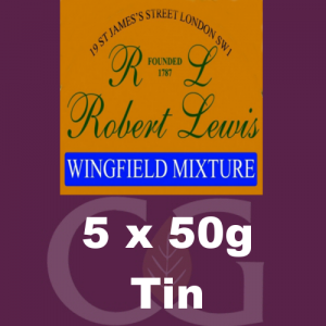 Robert Lewis Wingfield Mixture Pipe Tobacco 5x50g Tins