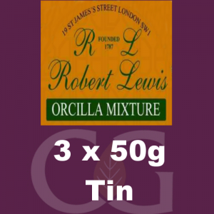 Robert Lewis Orcilla Mixture Pipe Tobacco 3x50g Tins