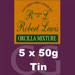 Robert Lewis Orcilla Mixture Pipe Tobacco 5x50g Tins