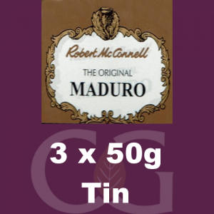 Robert McConnell Maduro Superb Pipe Tobacco 3x50g Tins