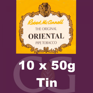Robert McConnell Oriental Mixture Pipe Tobacco 10x50g Tins