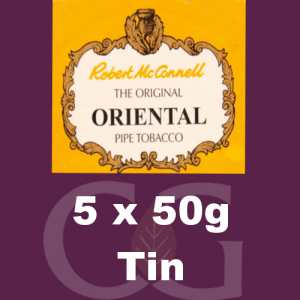 Robert McConnell Oriental Mixture Pipe Tobacco 5x50g Tins