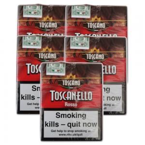 Toscanello Rosso Cigar - 5 Packs of 5  (25 cigars)