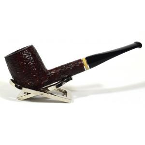 Savinelli Oscar Rusticated Brown 111 Straight 6mm Fishtail Pipe (SAV405)