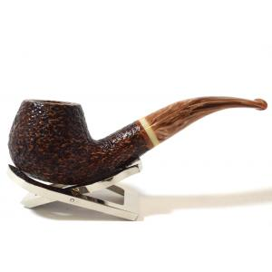 Savinelli Dolomiti 645 Rustic Light Brown 9mm Filter Fishtail Pipe (SAV631)