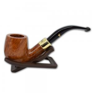 Peterson Natural Straight Grain Gold Mount 65 Pipe (PE535)