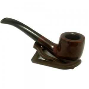 Supreme Bent Dublin Pipe - Dark Brown
