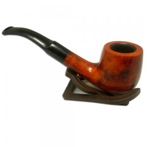 Supreme Bent Pot Pipe - Orange/Brown