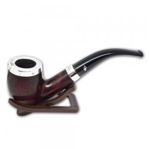 Peterson Silver Cap Dark Brown 69 Fishtail Pipe (PE520)