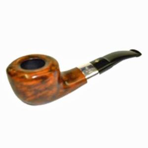 BBB Silver Mounted Semi Curved Briar Pipe