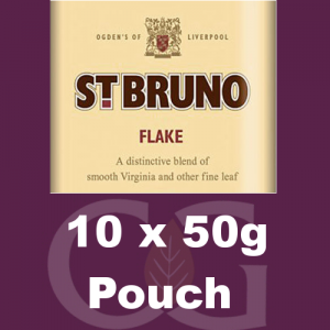 St Bruno Flake Pipe Tobacco - 500g (10 x 50g Pouches)