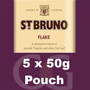 St Bruno Flake Pipe Tobacco - 250g (5 x 50g Pouches)