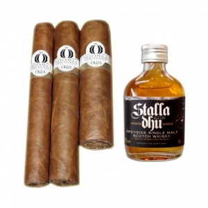 Stalla Dhu Speyside Whisky and Oliva Orchant Sampler - 3 Cigars