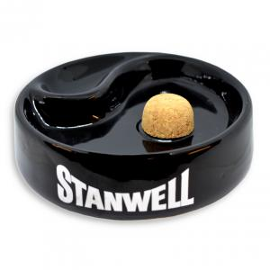 Stanwell Black Single Pipe Ashtray