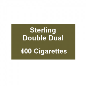 Sterling Double Dual - 20 Packs of 20 Cigarettes (400)