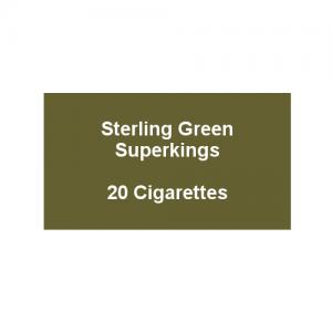 Sterling Green Superkings - 1 Pack of 20 Cigarettes (20) (Discontinued)