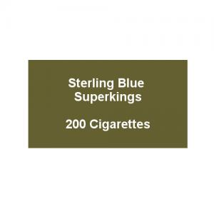Sterling Blue Superkings - 10 Pack of 20 Cigarettes (200)