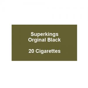 Superkings Original Black - 1 pack of 20 cigarettes (20)