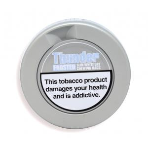 Frosted Slim White Chewing Tobacco Tin