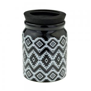 Aztec Ceramic Tobacco Jar With Rubber Lid