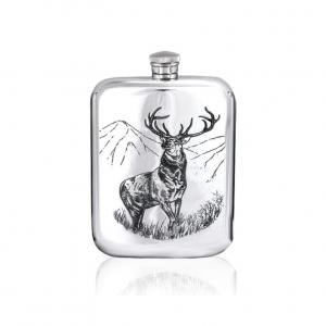 6oz Pewter Hip Flask - TSF608