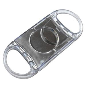Clear Transparent Twin Blade Cigar Cutter