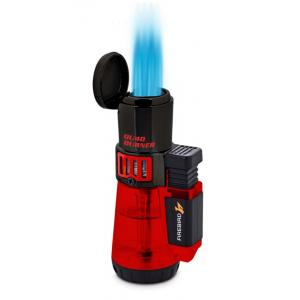 Colibri Firebird Qu4d Burner Jet Flame Lighter - Red