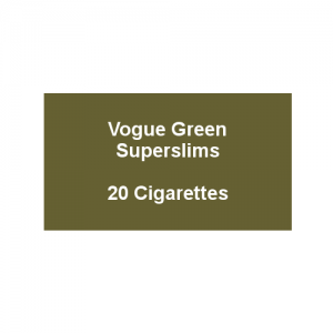 Vogue Original Green Superslims - 1 Pack of 20 cigarettes (20)
