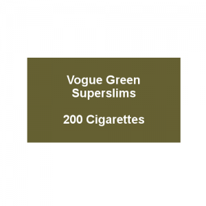 Vogue Original Green Superslims - 10 Packs of 20 cigarettes (200)