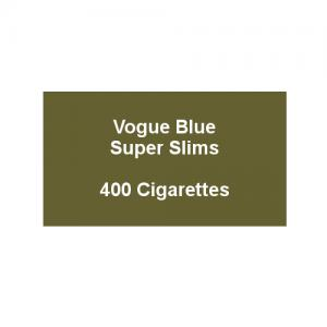 Vogue Blue Superslims - 20 Packs of 20 cigarettes (400)