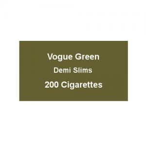 Vogue Green Demi Slims - 10 Packs of 20 cigarettes (200) - End of Line