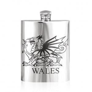 6oz Pewter Hip Flask - WAL004