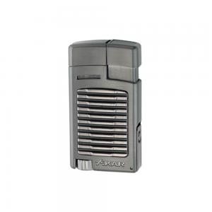 Xikar Forte Single Jet Cigar Lighter with Punch - Gunmetal