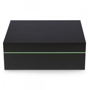 Zino Z80 Humidor - Black Oak and Green - 80 Cigar Capacity