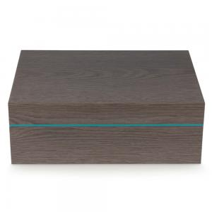 Zino Z80 Humidor - Grey Oak and Cyan - 80 Cigar Capacity